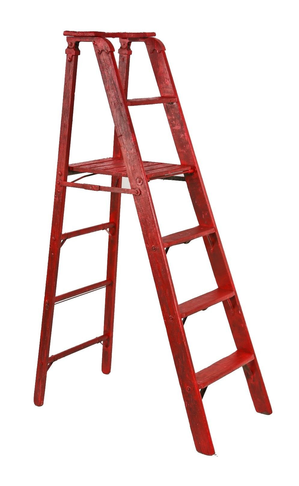 Best Attractive And Original Distressed Red Painted C Early 400 x 300