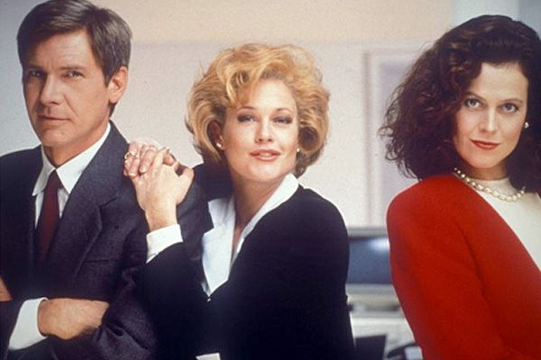 """With Harrison Ford and Melanie Griffith in """"Working Girl."""""""