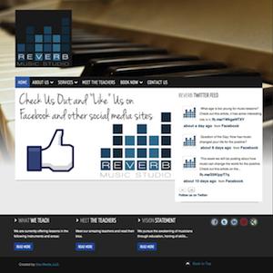 http://newmusic.mynewsportal.net - Reverb Music Studio Website - #uzumedia