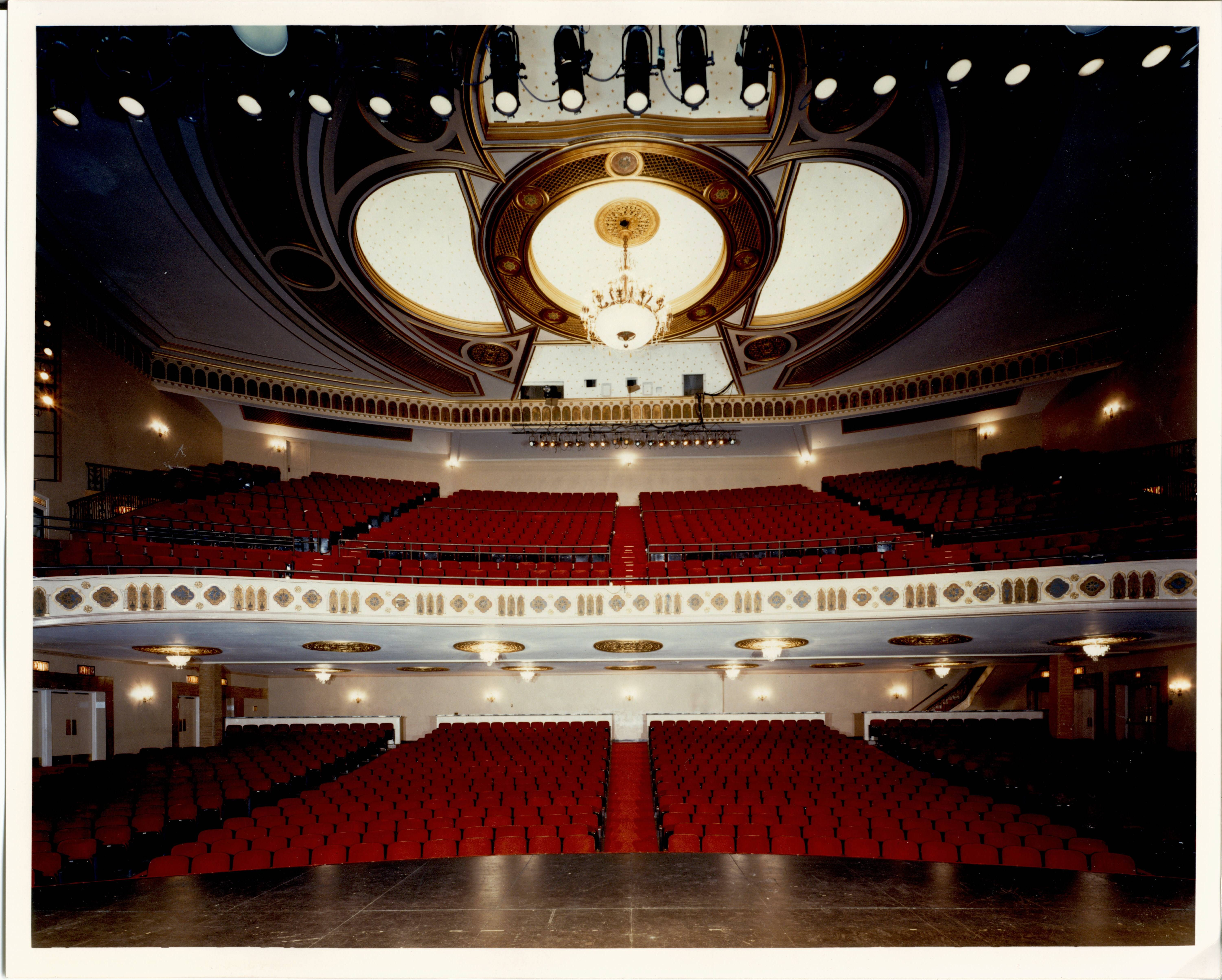 A view of the Main Auditorium from The Harman Stage Capacity 1 584 seats The