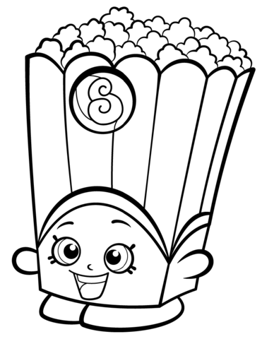 Poppy Corn Shopkin Coloring Page From Shopkins Season 2 Category Select Shopkins Coloring Pages Free Printable Shopkin Coloring Pages Shopkins Colouring Pages