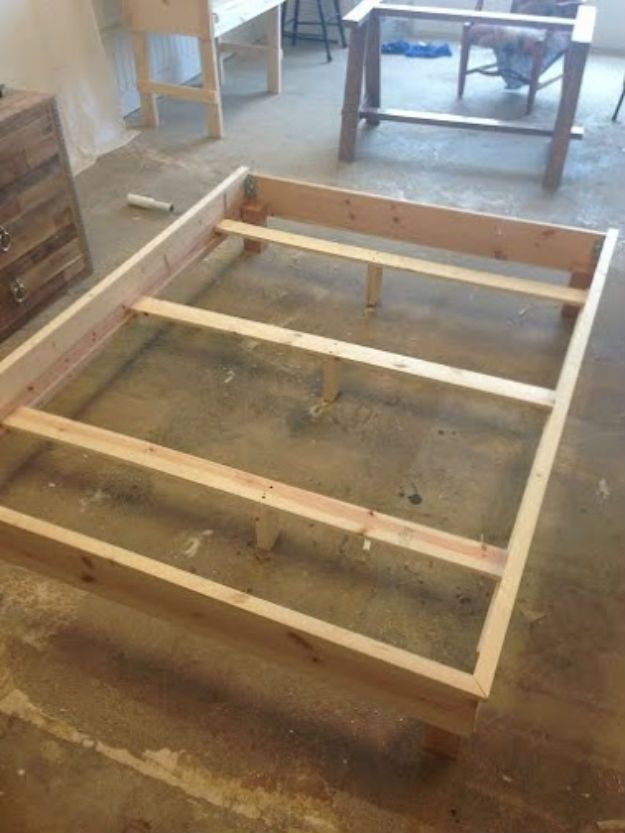 How to Build a Headboard and Bed Frame | Pinterest | Bed frames ...