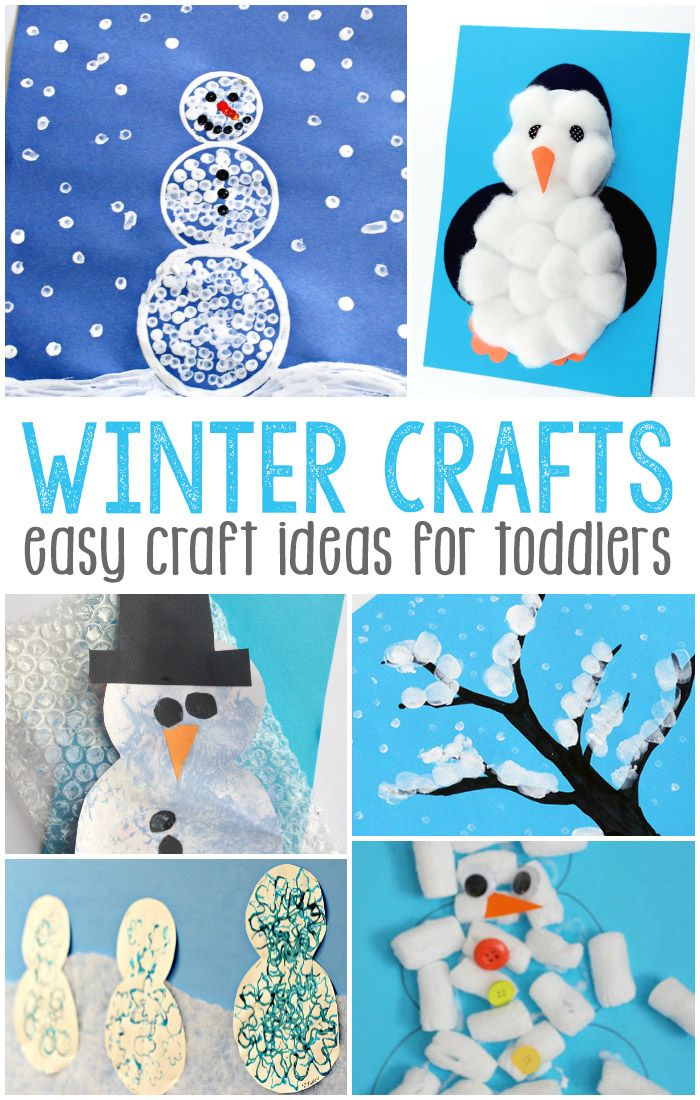 Winter Craft Ideas For Kids Easy Part - 16: Snowman, Penguins And Winter Scenes Make Up This Fun List Of Ideas For Easy  Winter Crafts For Toddlers!