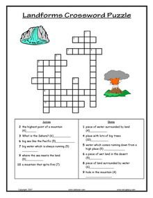Printable Landform Worksheets | ESL, English vocabulary, printable ...