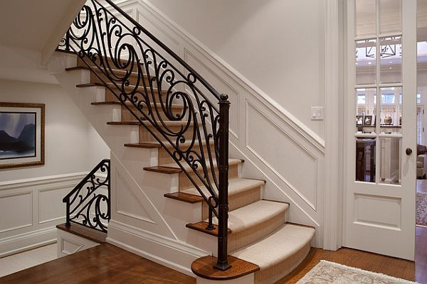 Choosing The Perfect Stair Railing Design Style Stair Railing Design Wrought Iron Stairs Iron Stair Railing