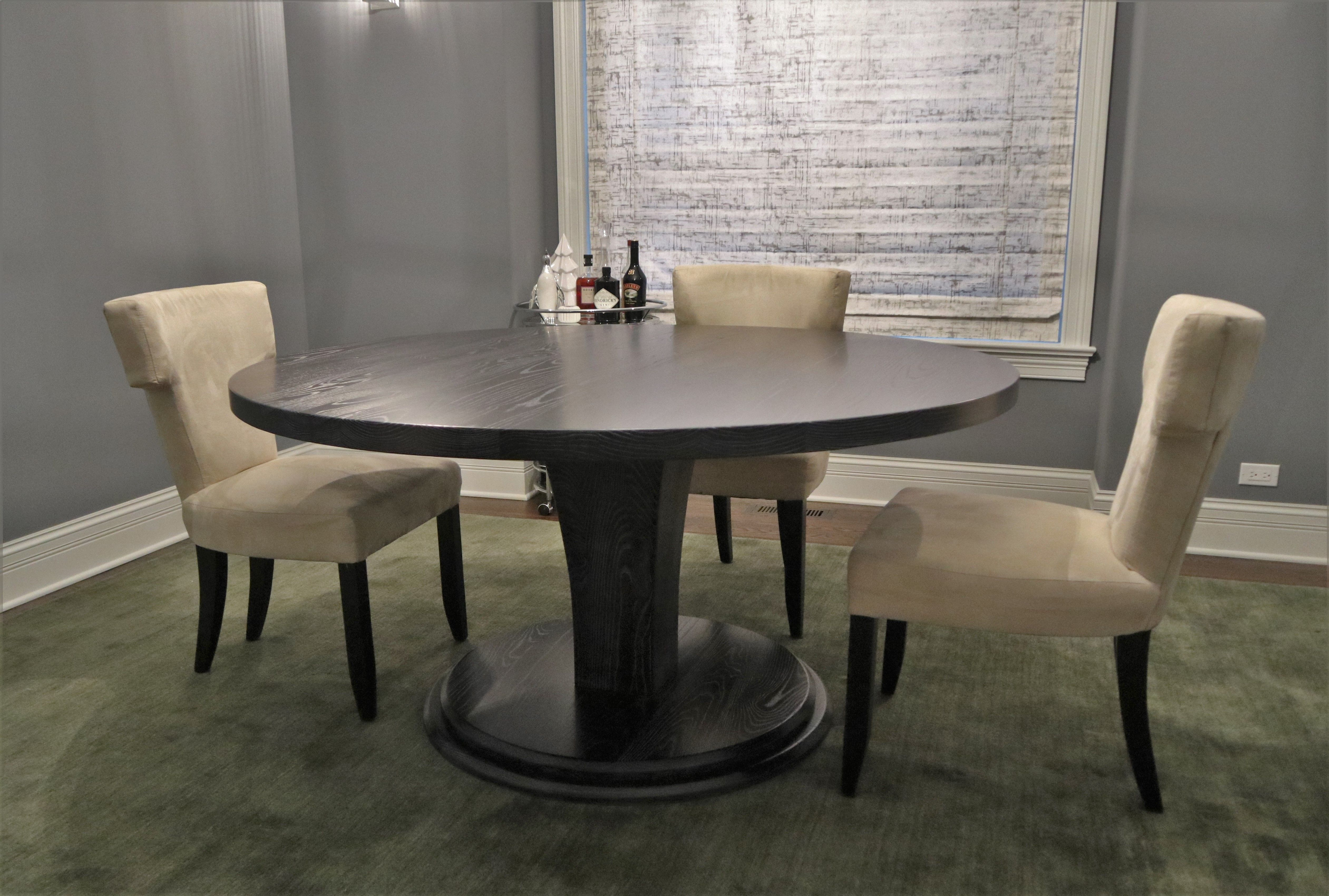 Our Meredith Pedestal Looks Fantastic Under This Custom Round