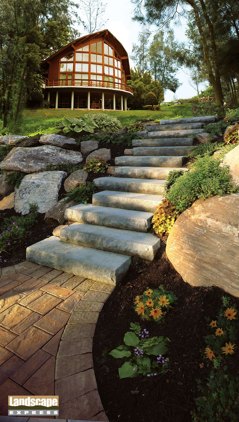 Design Ideas For Brick and Paving Stone Steps - Landscape Express ...