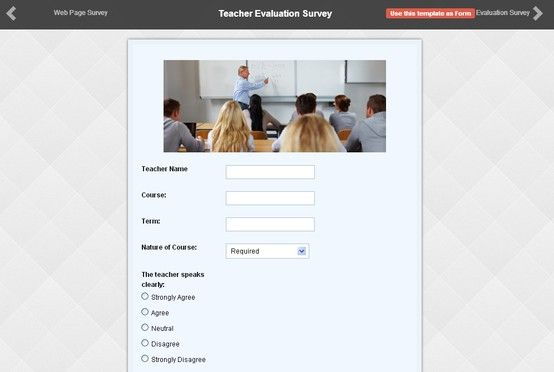 Check out Teacher Evaluation Survey Form made by one of our - survey form in pdf