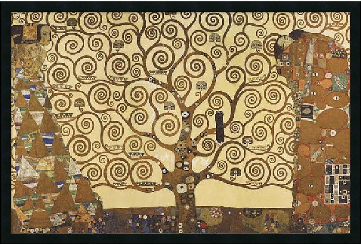37x25 inch Gustav Klimt The Tree of Life 1905-1911 Framed Print