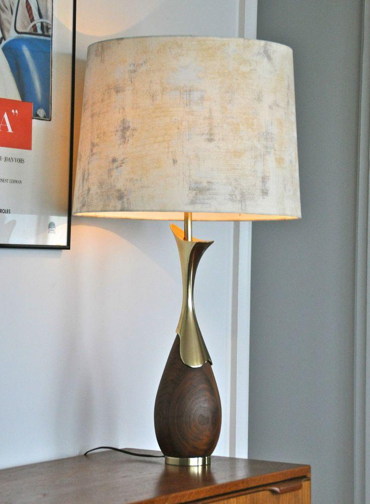 RETRO Mid Century Tony Paul Danish 'VOKS' table LAMP with ...