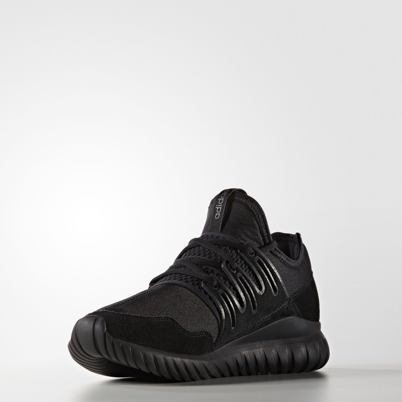 the best attitude d3d04 a2dd7 NEW S80115 MENS ADIDAS ORIGINALS TUBULAR RADIAL SHOES TRIPLE BLACK-GREY  DOOM