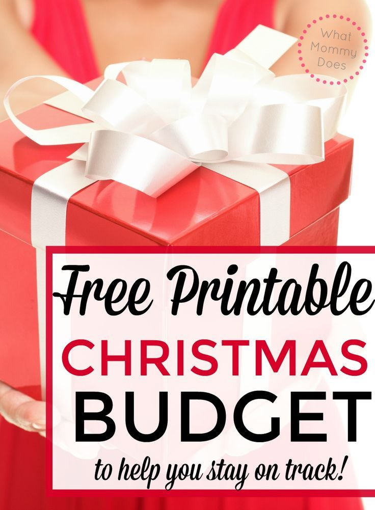 Free Christmas Budget Worksheet Pinterest Christmas budget