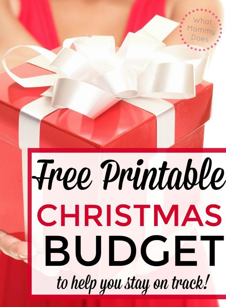 Free Christmas Budget Worksheet Christmas budget, Budgeting and