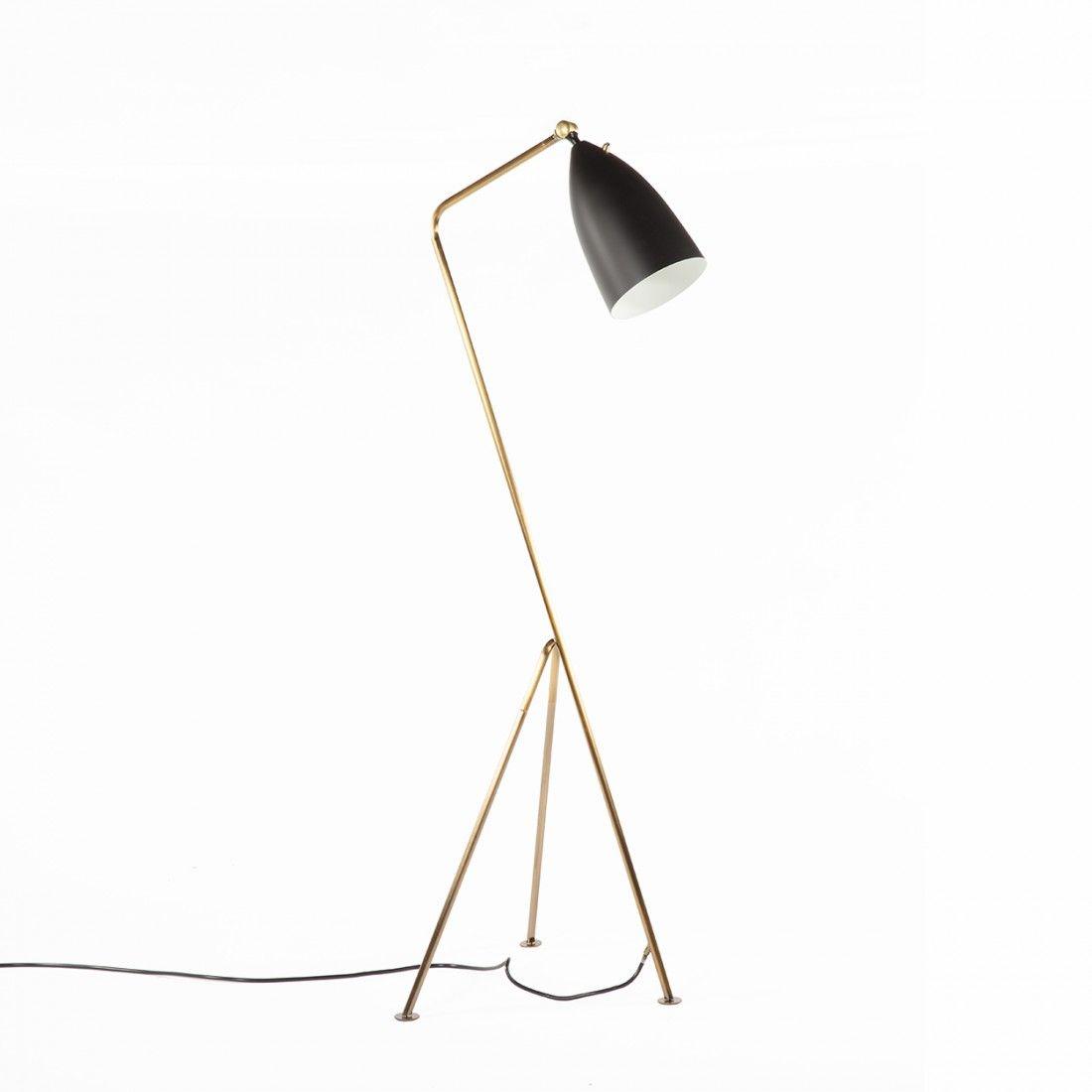 grasshopper floor lamp brass and black chicago ideasapt modernstore