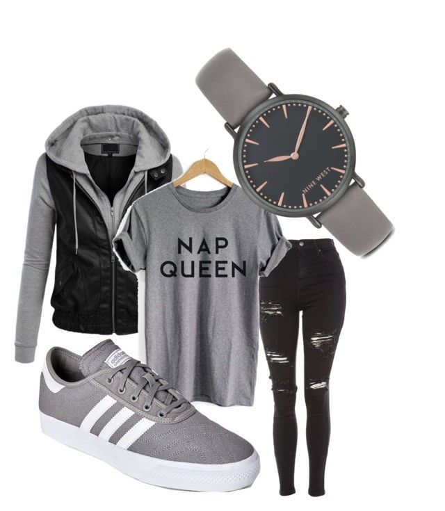 University look by otterhypochondriac on Polyvore featuring polyvore fashion style Topshop adidas Nine West clothing