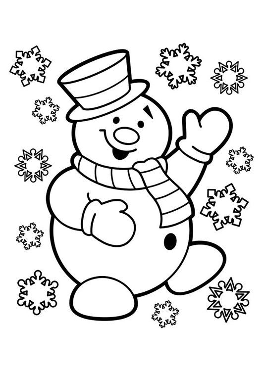 Kleurplaat Sneeuwpop Kleurplaat Pinterest Kerst Kerstmis