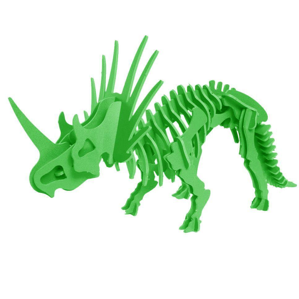 3D Dinosaur Puzzle - Styracosaurus - Komatex PVC - 9 Color Options ...