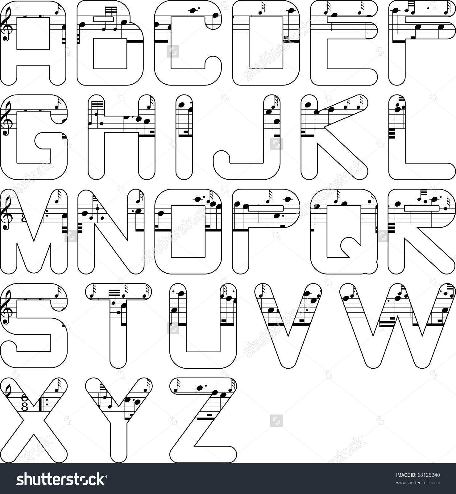 alphabet music | 2017-2018 | Pinterest | Letras, Musica y Letras ...