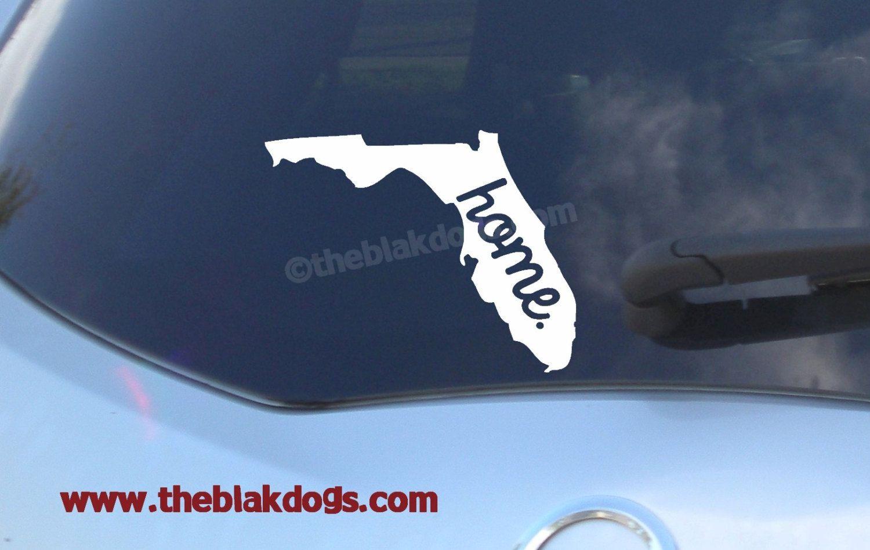 Florida State Silhouette With Home Text Vinyl Sticker Car Etsy Custom Vinyl Stickers Vinyl Sticker Custom Vinyl [ 948 x 1500 Pixel ]
