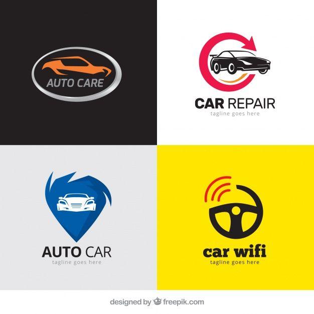 Download Pack Of Modern Logos With Cars For Free Dengan Gambar