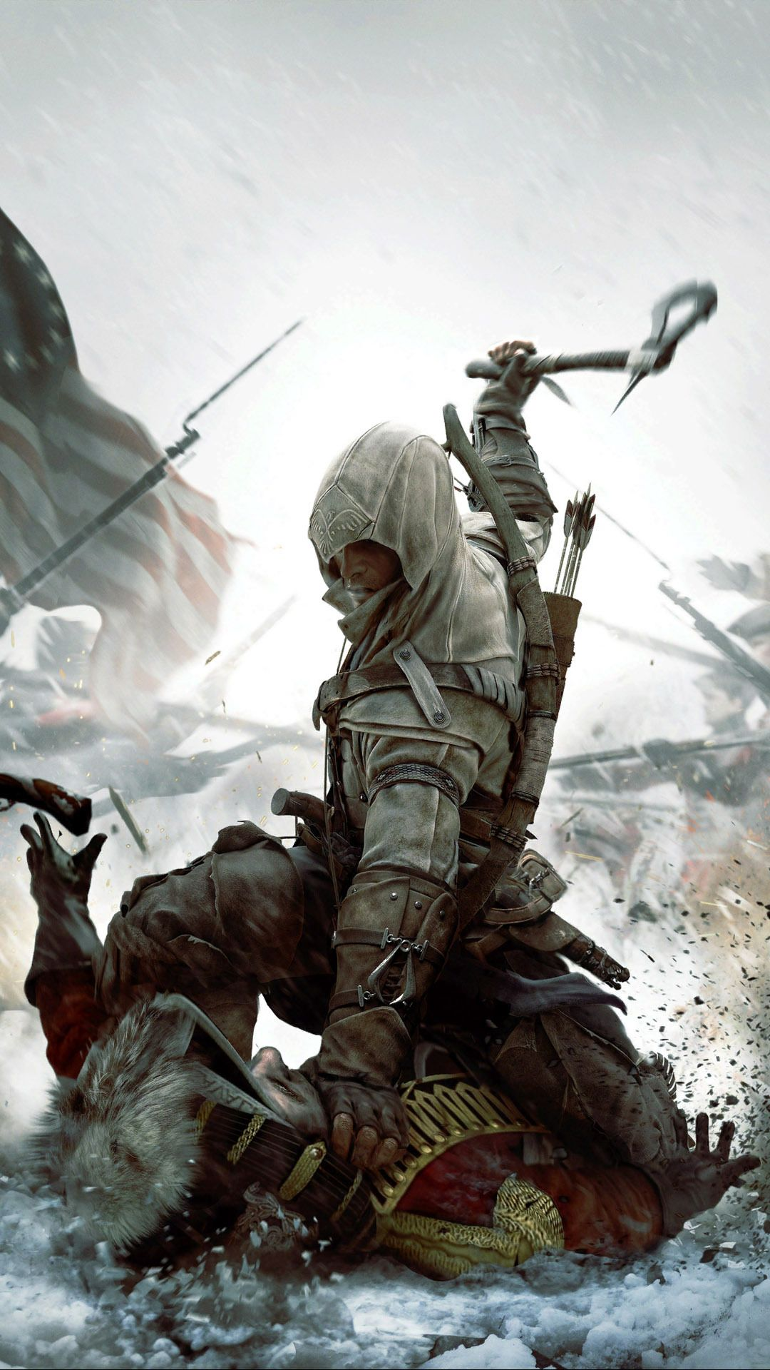 Connor Kenway Assassin S Creed Iii Mobile Wallpaper 12856