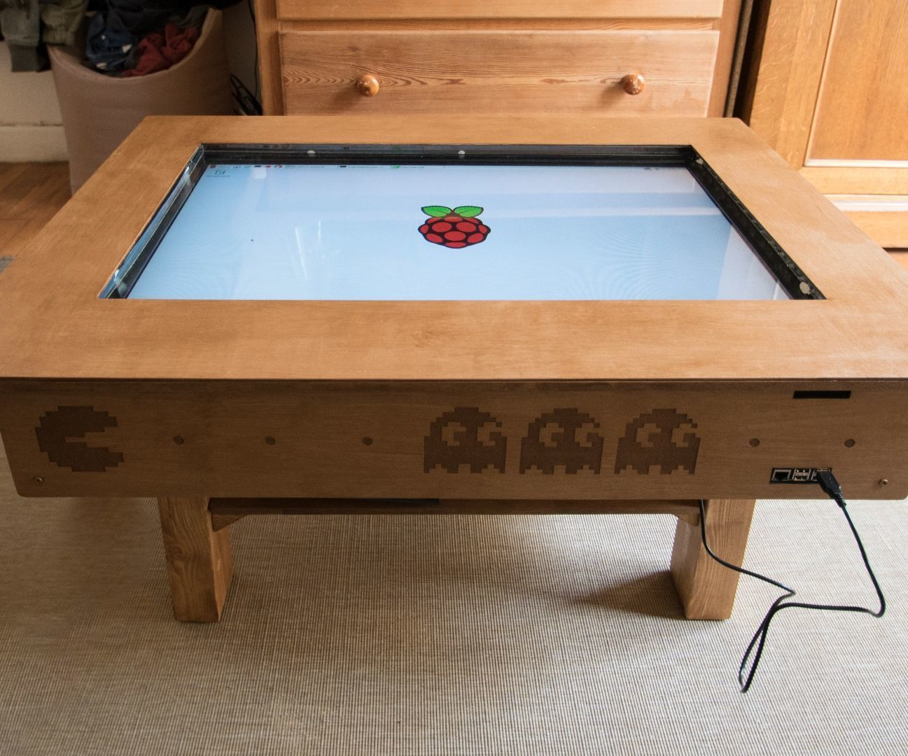 Touch Screen Coffee Table Diy With 32 Tv And Low Cost Ccd Sensor