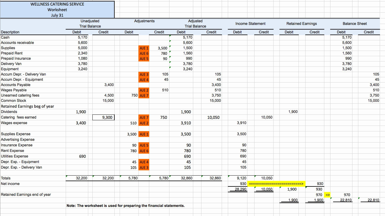 10 Column Worksheet Excel Template