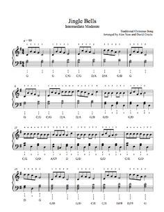 Jingle Bells By Traditional Piano Sheet Music Intermediate Level