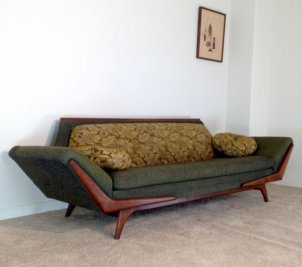 Vintage Mid Century Modern Sofa: Details About LARGE Adrian Pearsall Gondola Sofa Rowe