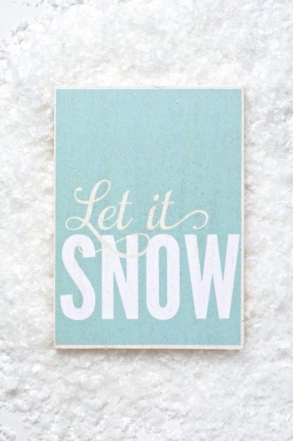 Let It Snow Printable Christmas Christmas printables, Winter