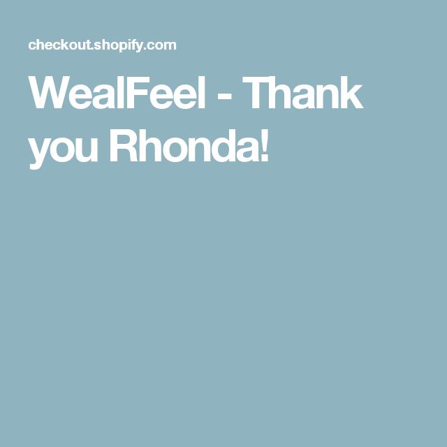 WealFeel - Thank you Rhonda!