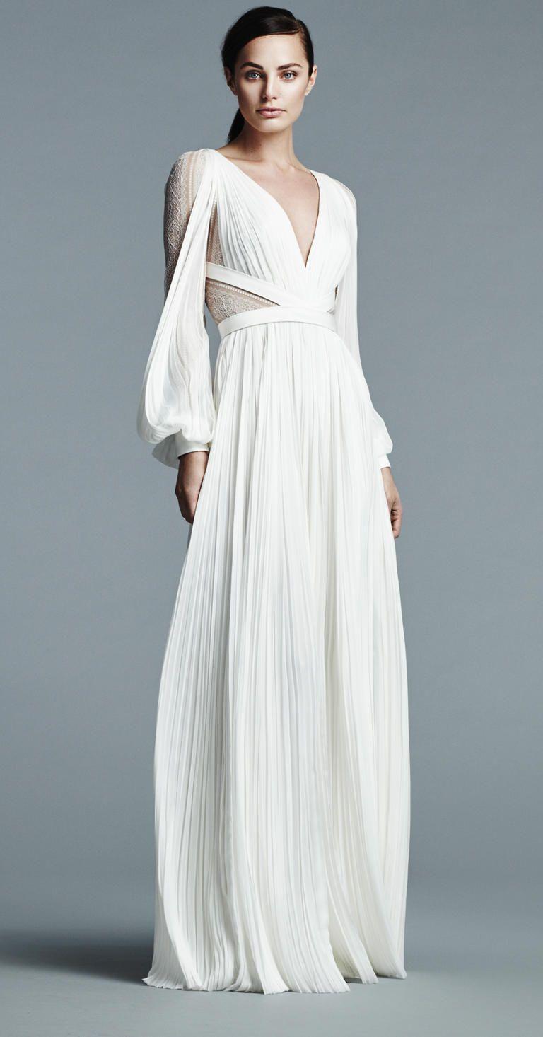 J mendel shows modern floral wedding dresses for spring