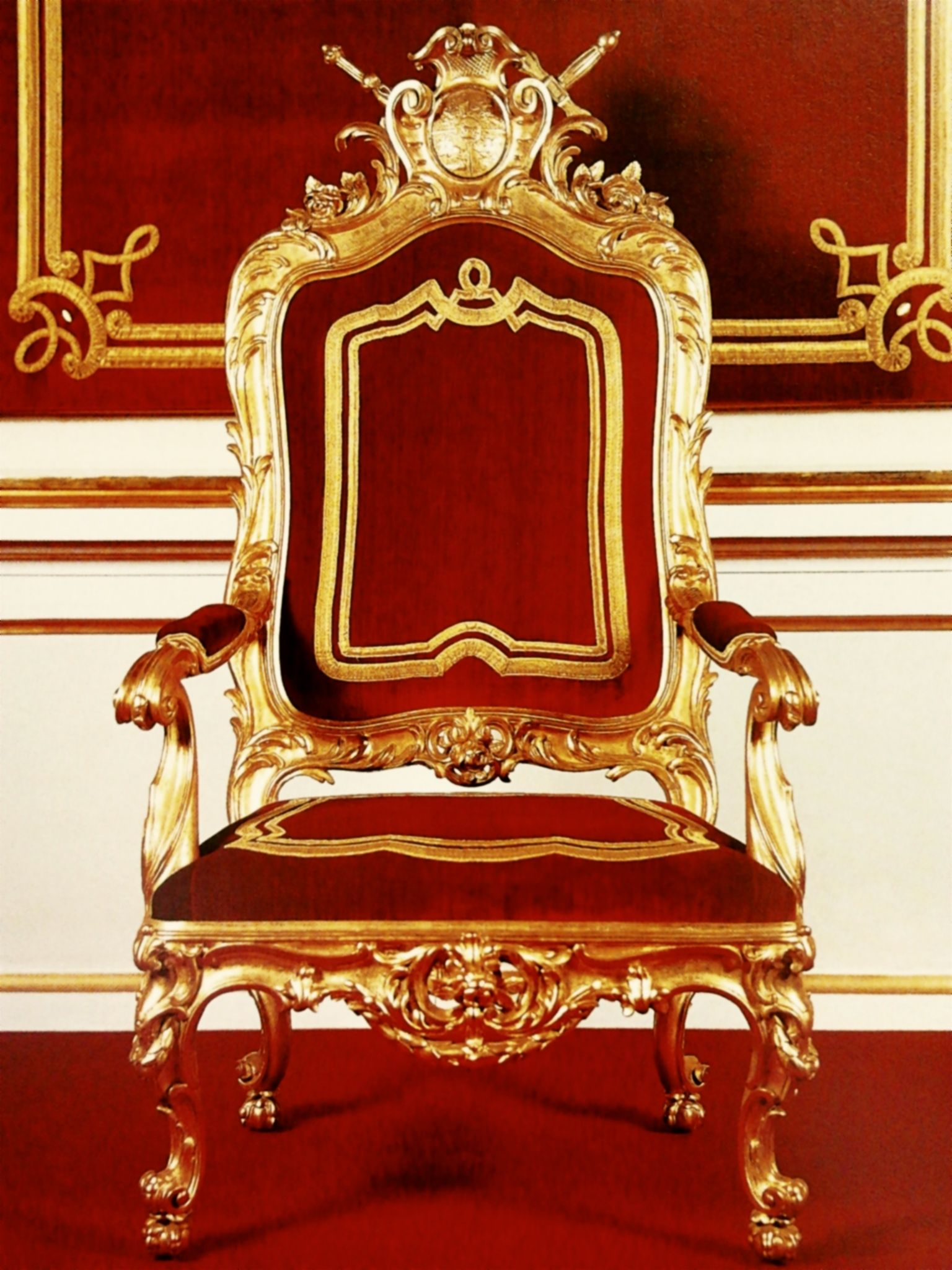 Silla Red Castle Stanislas August Of Poland Throne Chair 1764 Royal