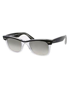 2566702fc1 Ray-Ban Wayfarer Sunglasses in Black/clear   Men's sunglasses   Ray ...
