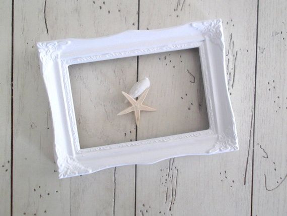 White Picture Frame Gallery Frame Wedding by SeasideRoseCreations