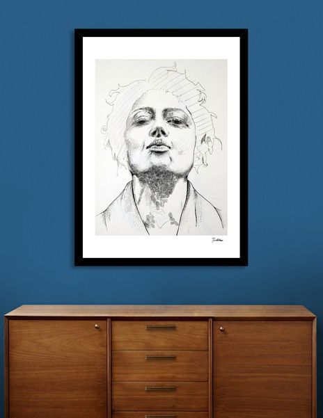 Discover «Head ink 2», Limited Edition Fine Art Print by Dario Moschetta - From 27€ - Curioos