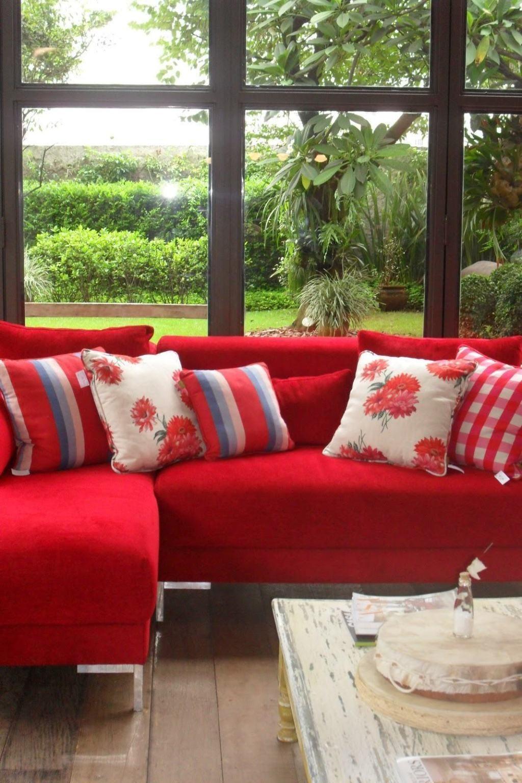 60 zimmer mit roten sofas - fotos & inspirationen - neu