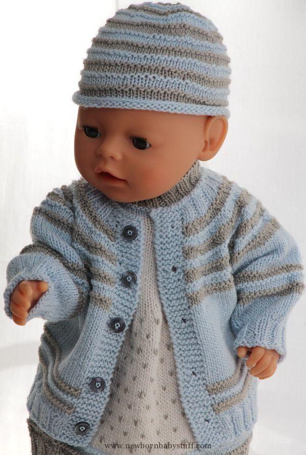 Baby Knitting Patterns Puppensachen Stricken Anleitung...   15\