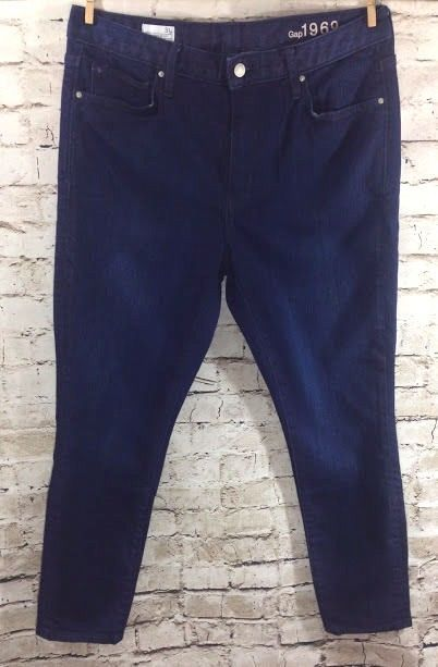 7638675aab0eb GAP 1969 High Rise Skinny Jeans Size 31 x 27 Dark Wash Stretch Ankle Short  EUC #GAP #SlimSkinny