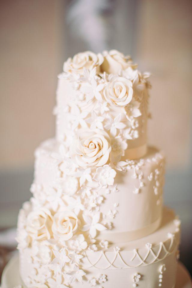All white, classic wedding cake   Sandra Marusic Photography