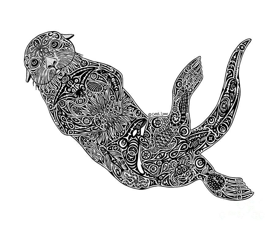 Nutria de mar por Carol Lynne | laminas y dibujos | Pinterest ...
