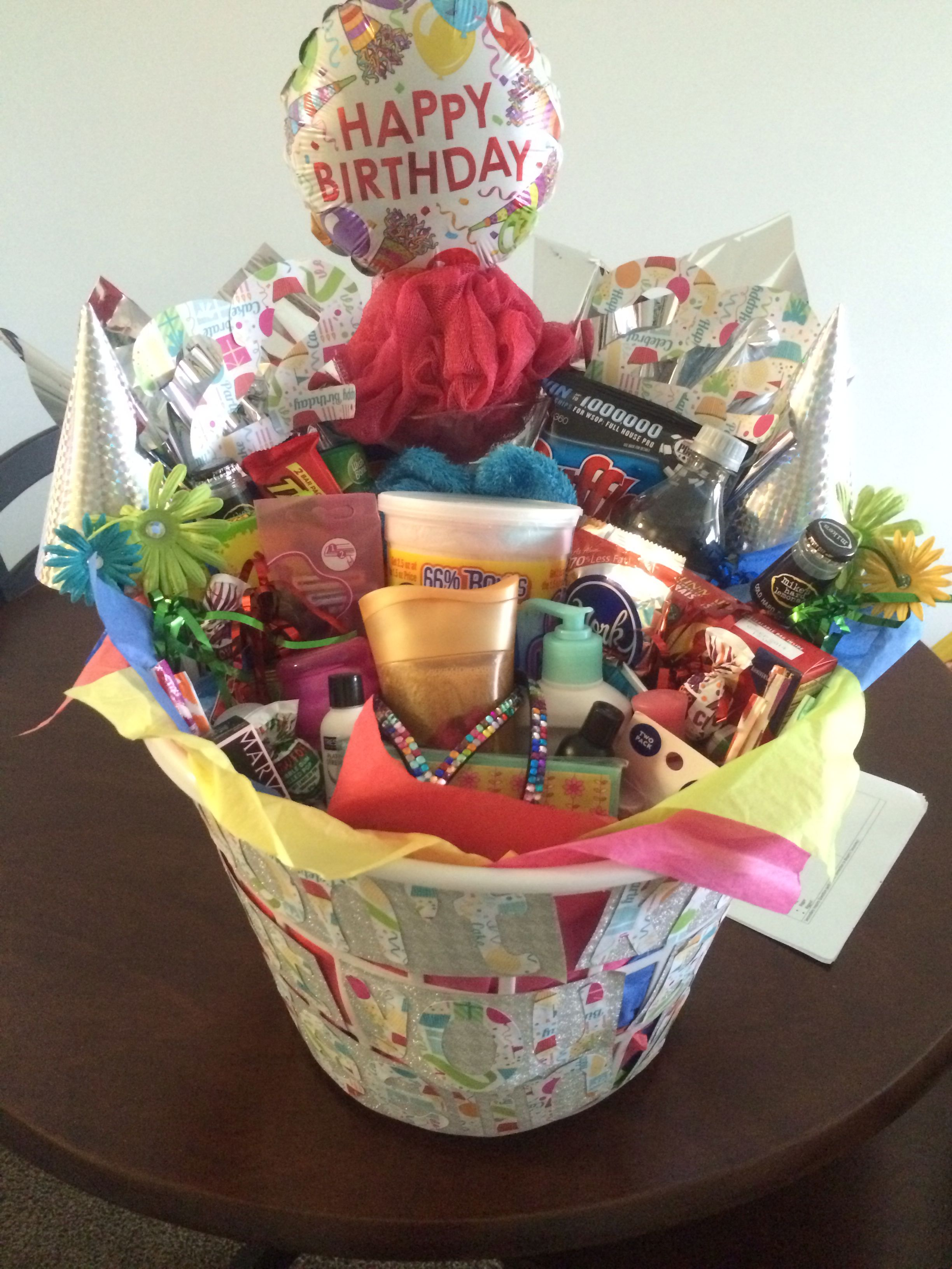 22nd Birthday Basket Gifts For Girls Stuff Presents