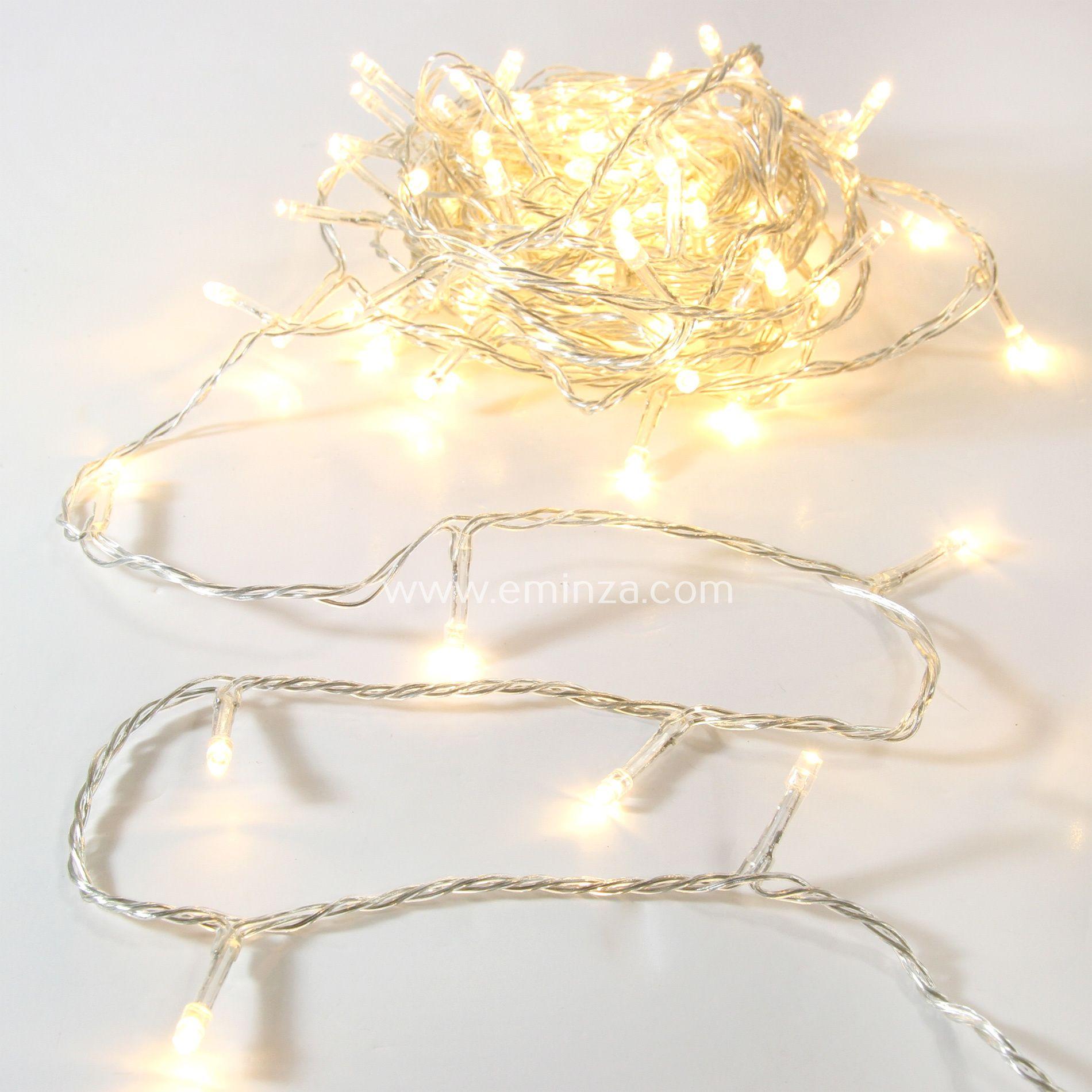 Guirlande lumineuse Timer 10 m Blanc chaud 100 LED CT