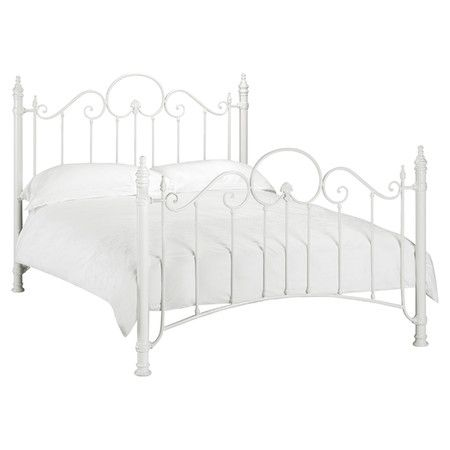 found it at wayfaircouk pisa metal bed frame in off whitehttp