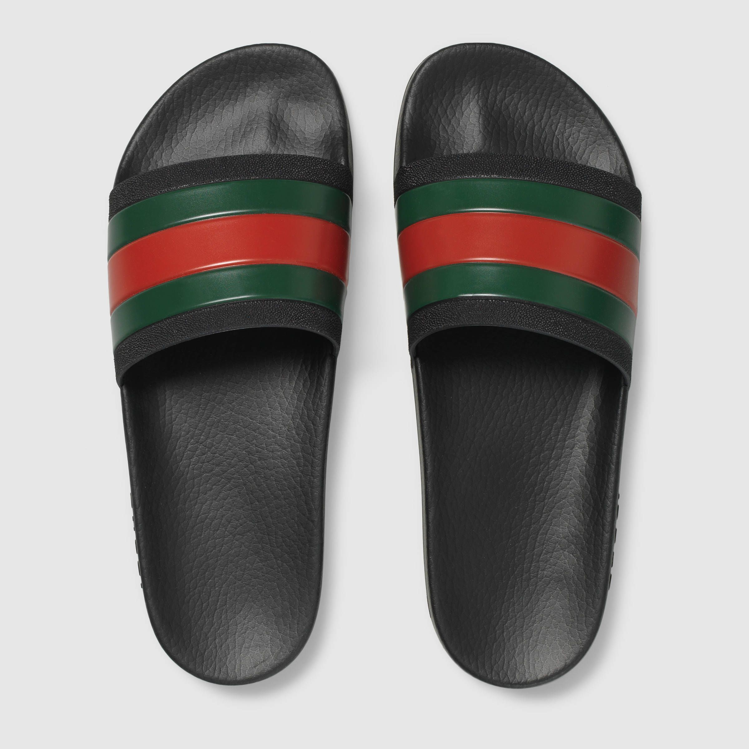 2b6f2a36236ef9 But are flip flops indeed suc… Gucci Men - Rubber slide sandal -  308234GIB101098