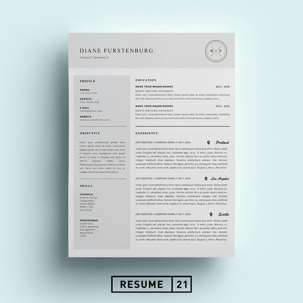 New Resume Available! Includes Both US Letter And A4 Sizes