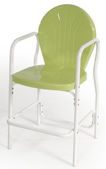 Torrans Manufacturing Retro Metal Lime Bar Chair, Available At Atomic  Dimestore.