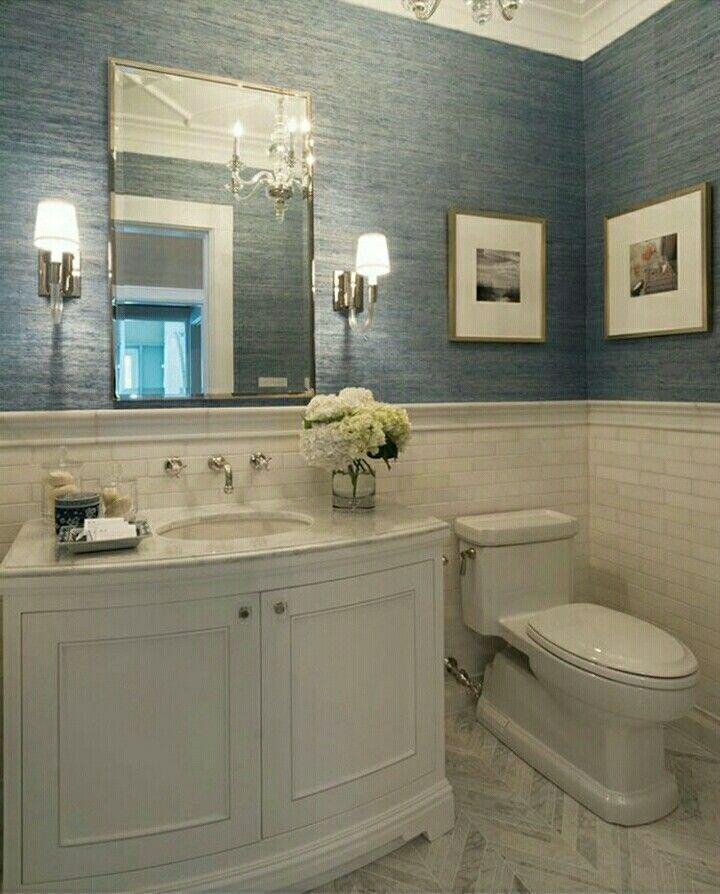 Half Bathroom Wallpaper Grcloth Dining Room Powder