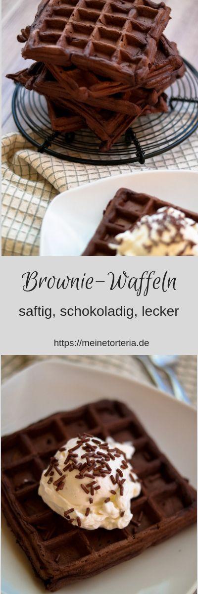 Brownie Waffeln   - Rezept Ideen -