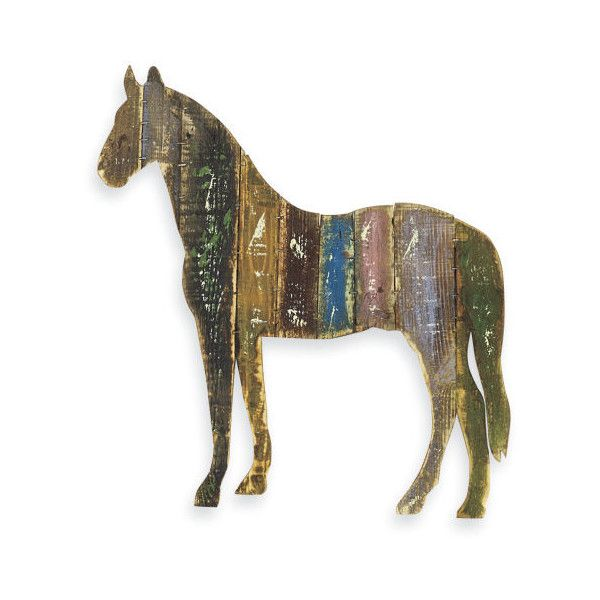 Wooden Horse Wall Decor 60 Liked On Polyvore Featuring Home Art